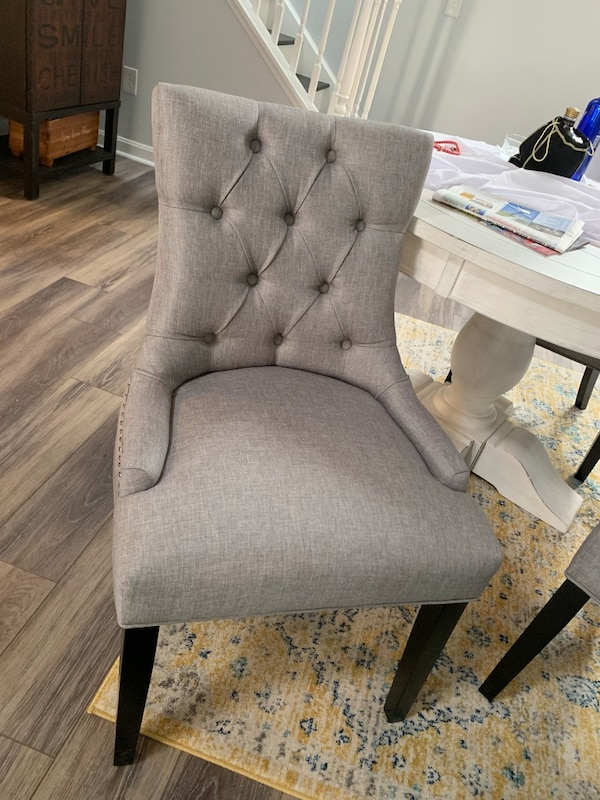 Remarkable Final Offer 4 New Tufted Nailhead Dining Chairs Gmtry Best Dining Table And Chair Ideas Images Gmtryco