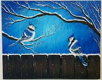30x24 inches Blue Jays acrylic painting  Toronto, M5G 1X8