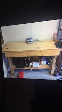 Solid wood hand crafted work bench, vise not included. Clarksville, 21029