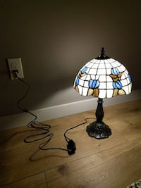 Stained glass desk lamp