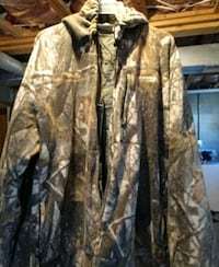 brown and black camouflage jacket Frederick