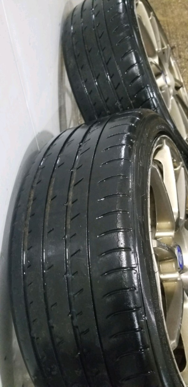 4  18in sparco wheels  4x100 rims and tires b648f824-8a92-415a-96a6-cdc02f27e795