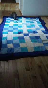 blue and white king Size Blanket