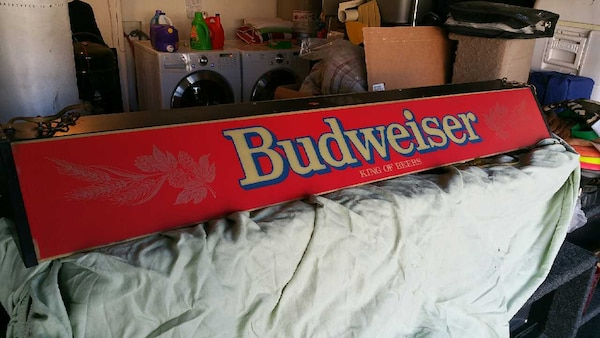 Used Vintage Budweiser Pool Table Light For Sale In Castaic Letgo - Vintage budweiser pool table light
