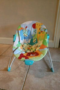 baby's green and blue bouncer Royse City, 75189