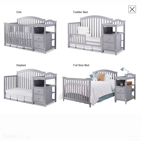 Sorelle Berkley 4 In 1 Crib Bed With Changing Table