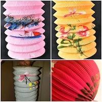 6x 60/70's Trendy Handpainted Chinese Lanterns/Decor/Party/Childs Room Barrie, L4N 9T3