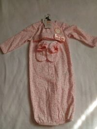 6mo Carter's gown set pink Woodbine, 21797