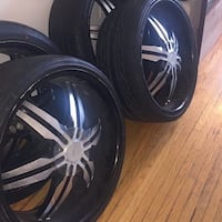 24 inch rims and tires  Toronto, M9M 1N8