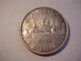 1960 Canadian Silver Dollar