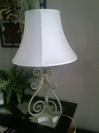 Large table lamp with clean white shade
