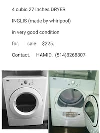 4cubic 27 inches DRYER  in very good condition  782 km