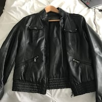 Black leather zip-up jacket Vaughan, L4H 2V3