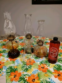 Oil Lamps, Fluid and extra globe