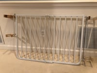 """Cardinal Gates Stairway Angle Baby Gate 27""""-41.5"""", White w/ 4 clamps"""