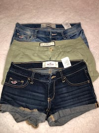 blue and black denim short shorts Brownsville, 78520