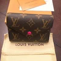 New LV wallet, dust bag, and box (fuchsia) Sunnyvale, 94089