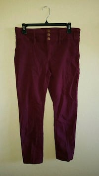 Maroon high waisted pants (size:13) Imperial, 92251