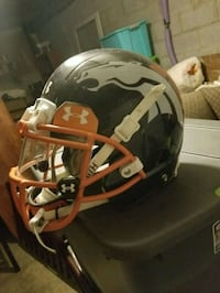 Blue and white football helmet Lewisville, 27023