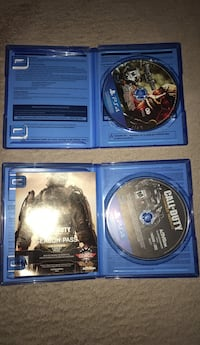 two Sony PS4 game discs Germantown, 20876