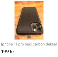Iphone 11 pro max deksel carbon Oslo, 1275