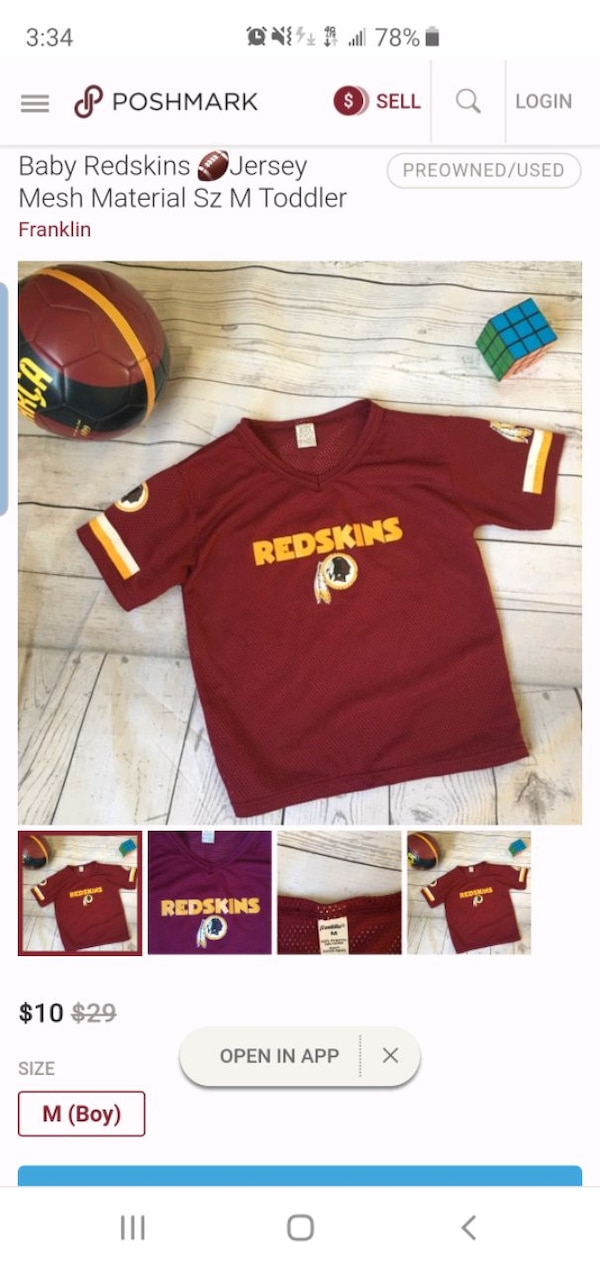 finest selection a3ba3 05a10 3T Redskins Toddler Team Jersey - USED - Excellent
