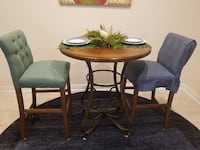 Bistro table with matching chairs NOBLESVILLE