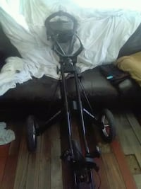 black and gray golf bag trolley Edmonton