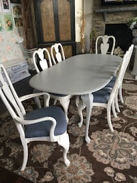 Queen Anne Dining Table/6 Chairs Aldie, 20105