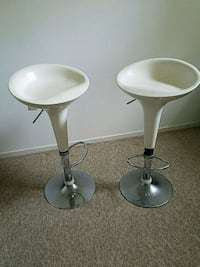 two white-and-gray bar stools Mississauga, L5E 1X5