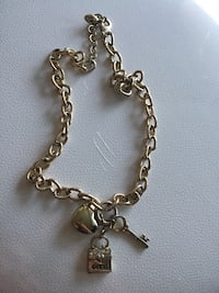 silver-colored chained with padlock and key pendant necklace Edmonton, T5T