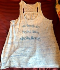 White and blue tank top Cameron, 28326