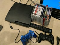 Ps3 with controllers and games Chantilly, 20151