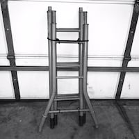 This is a solid steel ladder that comes in 4 foot sections easy to sto Edmond