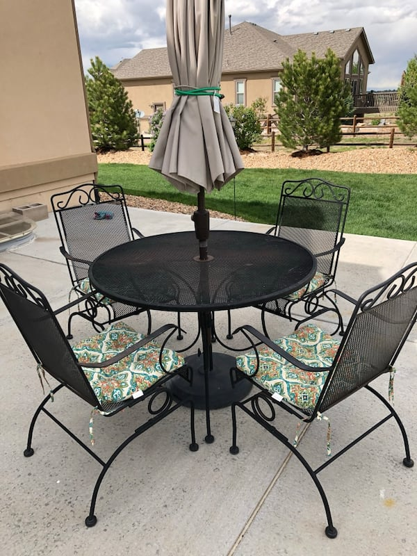 Sold Wrought Iron Patio Set In Berthoud