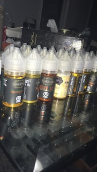 assorted e-juice bottle lot