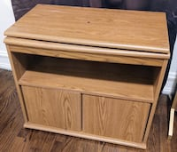 Wood Swiveling TV Cabinet Stand
