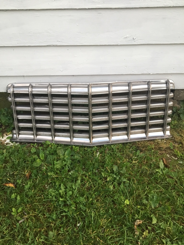 Photo Stainless steel car grille guard on a 55 Dodge