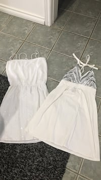 Lot of 2 Victoria Secret summer dresses size small and med Tay, L0K