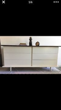 WHITE MCM LOW BOY DRESSER MEDIA CONSOLE BABY CHANGER