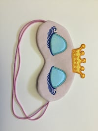 multicolored eyes and crown graphic eye mask
