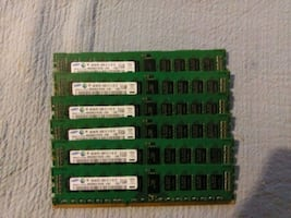24GB(6x4GB)SAMSUNG PC3-10600R ECC REG SERVER MEMOR