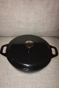 Wolfgang Puck Cast Iron Enamel Coated Shallow Dutch Oven