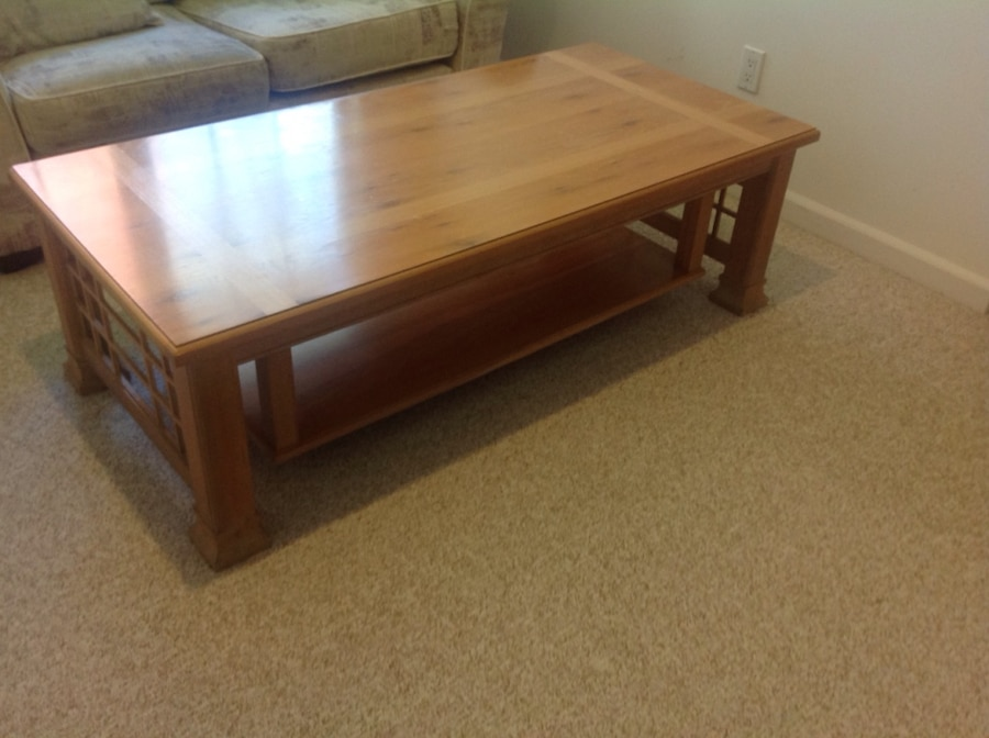Thomasville solid oak coffee table in Brookhaven letgo