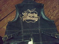 women's blue and gold-colored denim vest North Las Vegas, 89030