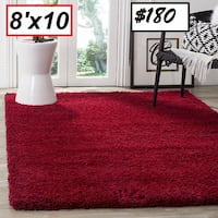 AJ - BRAND NEW - Safavieh California Shag Area Rug, 8' x 10', Red Mississauga