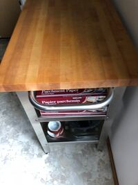 Brown wooden framed brown wooden top table Fredericton, E3A 4X4