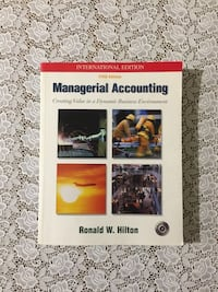 Managerial Accounting, Mc Graw Hill, 5th edition , 34330