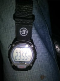 round black digital watch with black strap Memphis