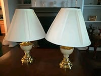 two white ceramic base table lamps Gaithersburg, 20878